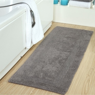 Cotton Luxuriously and Soft Reversible Extra Long Bath Rug 22 x 66