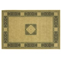 Heirloom Elegant Medallion area rug by Bacova - 87x60