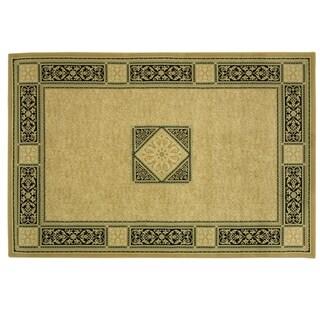 Heirloom Elegant Medallion area rug by Bacova - 87x60