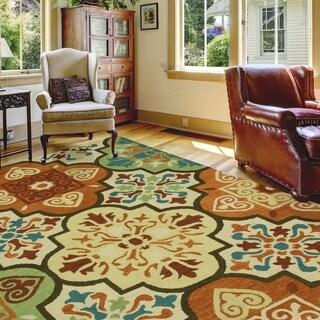 Bacova Monarch Moroccan Tile Suns Handmade Multicolored Rug - 10' x 7'6
