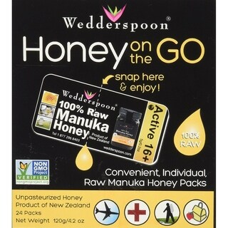 Wedderspoon 24 packets Raw Manuka Honey On the Go