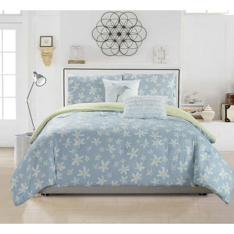 Kensie Zophiel 2 Piece or 3 Piece Duvet Cover Set - Wax Yellow
