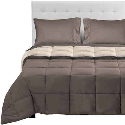 Bare Home Reversible Bed-in-a-Bag Down Alternative Comforter/Sheet Set