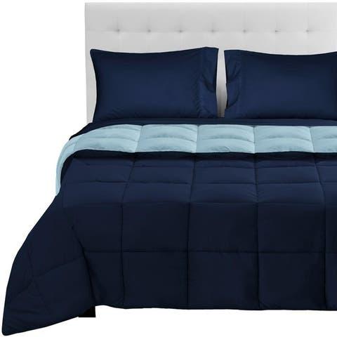 Bare Home Reversible Bed-in-a-Bag Down Alternative Comforter/Sheet Set
