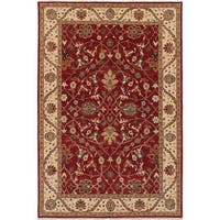 eCarpetGallery Hand-Knotted Jules-Sultane Red Wool Rug (5'7 x 8'5)