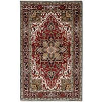 eCarpetGallery Hand-Knotted Royal Heriz Red Wool Rug (5'0 x 8'0)
