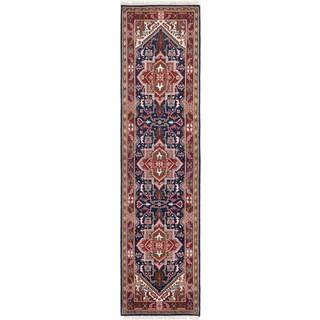 eCarpetGallery Hand-Knotted Royal Heriz Blue Wool Rug (2'8 x 10'6)