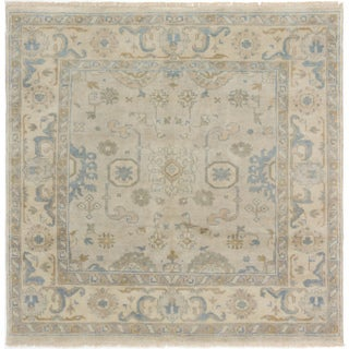 eCarpetGallery Hand-Knotted Royal Ushak Yellow Wool Rug (5'10 x 5'10)