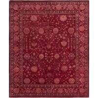 eCarpetGallery Hand-Knotted Jamshidpour Red Wool Rug (8'0 x 9'9)