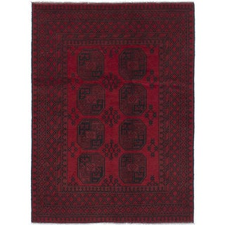 Hand-knotted Khal Mohammadi Red Wool Rug - 4'8 x 6'5