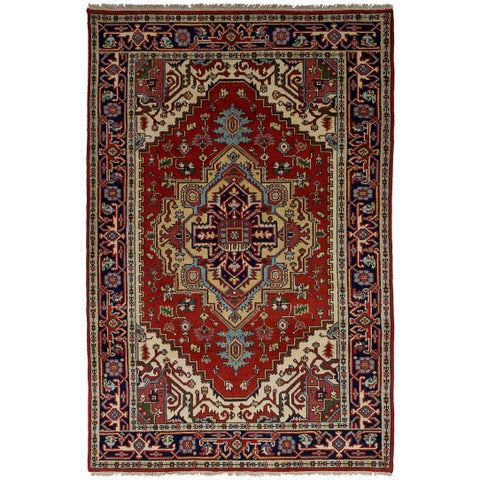 eCarpetGallery Hand-Knotted Serapi Heritage Red Wool Rug (5'1 x 8'0)