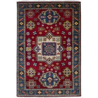 eCarpetGallery Hand-Knotted Royal Kazak Red Wool Rug (5'1 x 8'0)