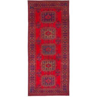eCarpetGallery Hand-Knotted Konya Anatolian Red Wool Rug (4'4 x 10'8)