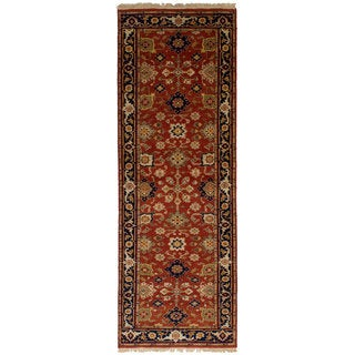 eCarpetGallery Hand-Knotted Serapi Heritage Red Wool Rug (2'7 x 7'11)