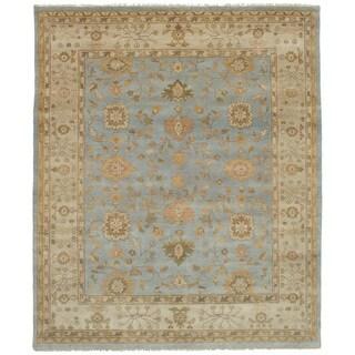 eCarpetGallery Hand-Knotted Royal Ushak Blue Wool Rug (8'2 x 9'11)