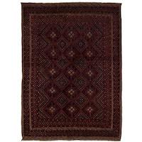 eCarpetGallery Hand-Knotted Tajik Caucasian Red Wool Rug (4'10 x 6'6)