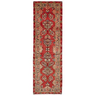 eCarpetGallery Hand-Knotted Mahal Red Wool Rug (3'3 x 11'0)