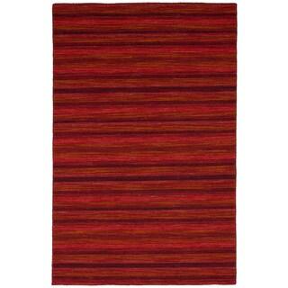 eCarpetGallery Flatweave Manhattan Red Wool Kilim Rug - 4'11 x 7'9