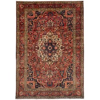 eCarpetGallery Hand-Knotted Bakhtiar Red Wool Rug (7'1 x 10'6)