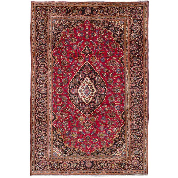Shop Ecarpetgallery Hand Knotted Persian Kashan Red Wool: Shop ECarpetGallery Hand-Knotted Kashan Red Wool Rug (6'8