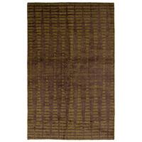 eCarpetGallery Hand-Knotted Galleria Brown Art Silk Rug (5'0 x 7'10)