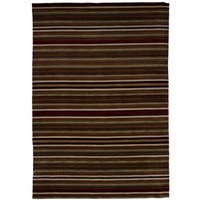 eCarpetGallery Hand-Knotted Luribaft Gabbeh Riz Brown, Red Wool Rug (6'8 x 9'10)