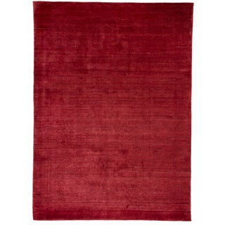 eCarpetGallery Hand-Knotted Shimmer Red Art Silk Rug (5'7 x 7'9)