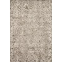 Alexander Home Hand-hooked Damask Mosaic Grey Wool Area Rug (7'9 x 9'9)