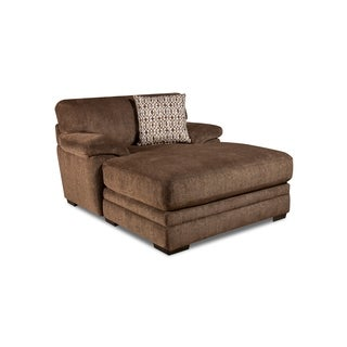 SofaTrendz Fernandez Brown Hardwood Coffee Chaise