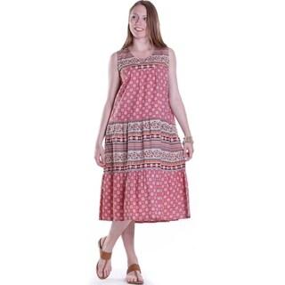 La Cera Women's Sleeveless Tiered Sundress
