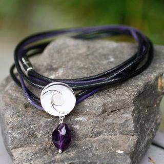 Handmade Sterling Silver 'Integration' Amethyst Bracelet (Mexico)