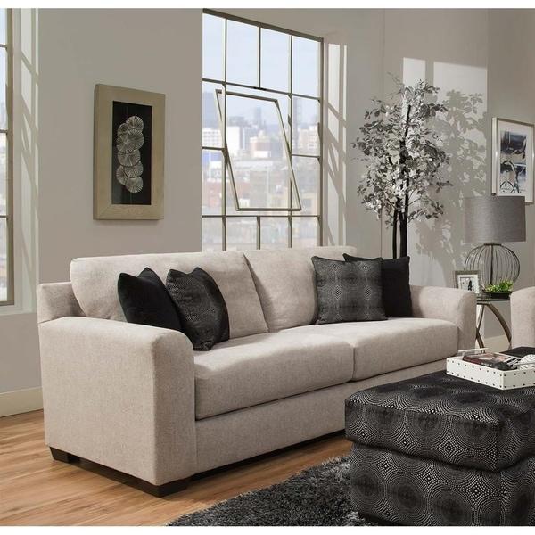 Superbe SofaTrendz Destin Beige Chenille Sofa