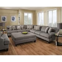 SofaTrendz Douglass Grey Chenille Sectional
