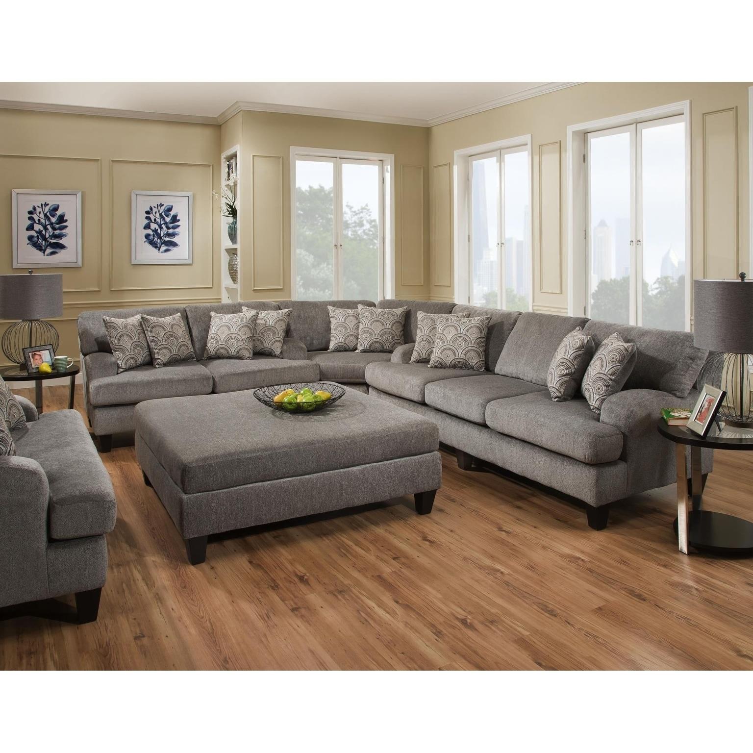 Fantastic Sofatrendz Douglass Grey Sectional Creativecarmelina Interior Chair Design Creativecarmelinacom