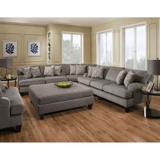 SofaTrendz Douglass Grey Sectional