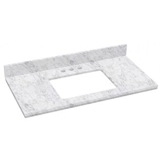36-in. W X 18.25-in. D Marble Top In Bianca Carara Color For 3H4-in. Faucet