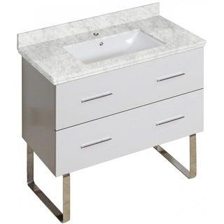 35-in. W X 17-in. D Modern Plywood-Melamine Vanity Base Set Only In White