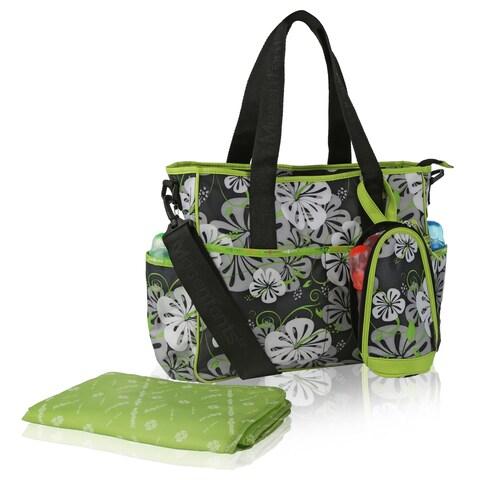 Mes Enfants simplicity Series Lilies Microfiber Baby Bag