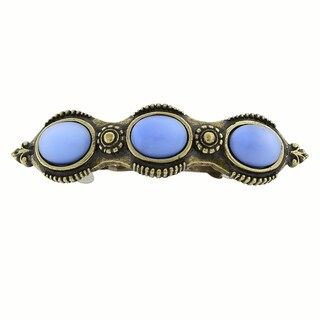1928 Jewelry Burnished Gold Tone Blue Moonstone Barrette