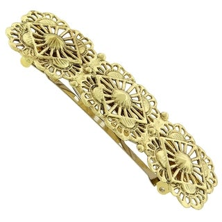 1928 Jewelry Gold Tone Filigree Hair Barrette