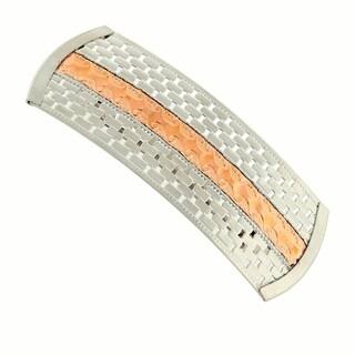 1928 Jewelry Silver Tone and Copper Tone Barrette
