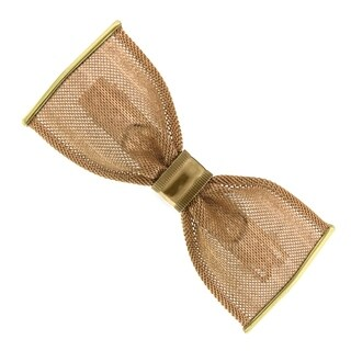 1928 Jewelry Gold Tone Bow Hair Barrette
