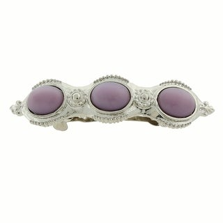 1928 Jewelry Silver Tone Purple Moonstone Barrette