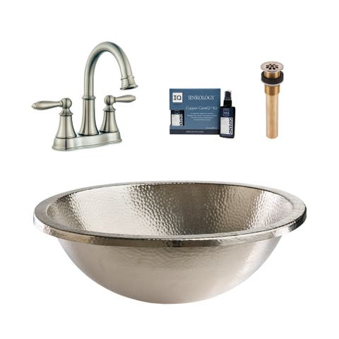 Sinkology Edison Nickel All-in-One Sink and Courant Faucet Kit