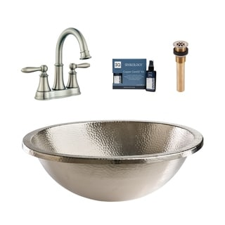 Link to Sinkology Edison Nickel All-in-One Sink and Courant Faucet Kit Similar Items in Sinks