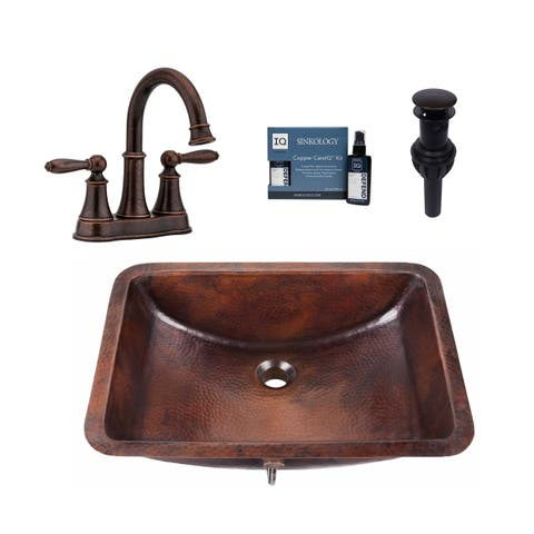 Sinkology Curie All in One Sink and Courant Faucet Kit