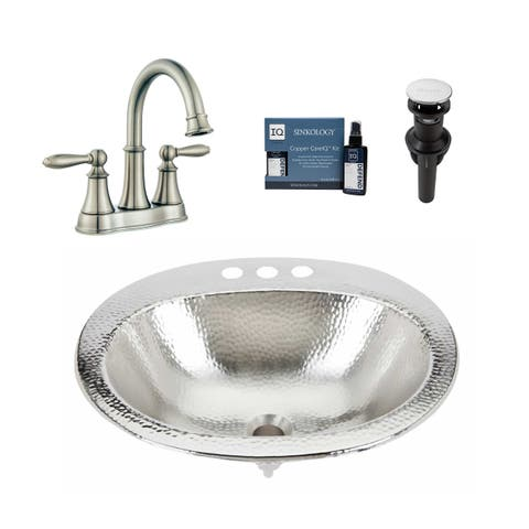 Sinkology Dalton Nickel All-in-One Sink and Courant Faucet Kit