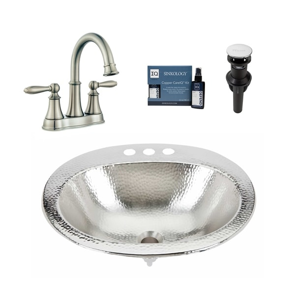 Sinkology Dalton Nickel All-in-One Sink and Courant Faucet Kit. Opens flyout.