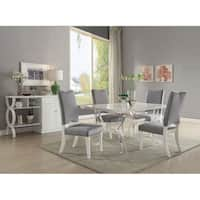 Acme Martinus White and Acrylic Dining Table