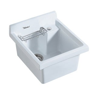 Whitehaus Collection Single Bowl, Drop-in Sink with Wire Basket